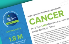 A teaser image of the 2020 PhRMA Medicines in Development for Cancer Report
